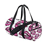 Mouth Yoga Sports Gym Duffle Bags Tote Sling Travel Bag Patterned Canvas with Pocket and Zipper For Men Women Bag