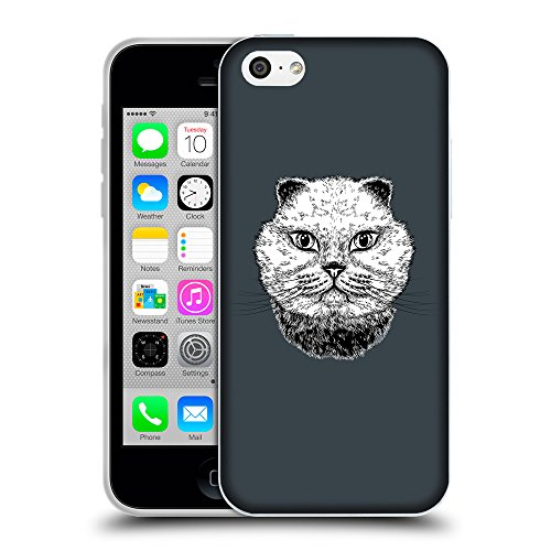 GoGoMobile Coque de Protection TPU Silicone Case pour // Q05220606 gros chat Arsenic // Apple iPhone 5C