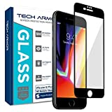 Tech Armor Edge to Edge Glass Screen Protector (.2mm) for Apple iPhone 8 Plus / iPhone 7 Plus / iPhone 6 Plus / iPhone 6S Plus (5.5-inch) (Black) [1-Pack]