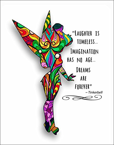 (ArtDash Studio Custom Decorative Art Print: DREAMS ARE FOREVER ~ The Perfect Gift for that Special Person or Child who Loves Tinkerbell... (8