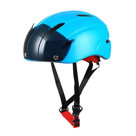 YLFC Casco Bicicleta, Protección de Seguridad Ajustable Casco de ...