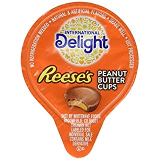 International Delight Reeseu0027s Peanut Butter Cup Liquid Creamer, 288 Count  Box Shelf Stable Single