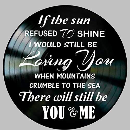 Thank You Song Lyric Art inspired by Led Zeppelin Vinyl Record Album Wall Decor