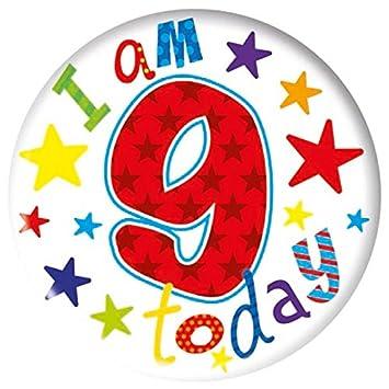 15cm insignia del feliz cumpleaños 9 años de edad Boy ...
