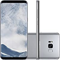 "Smartphone Samsung Galaxy S8 Dual Chip Android 7.0 Tela 5.8"" Octa-Core 2.3GHz 64GB 4G Camera 12MP Prata - Claro"