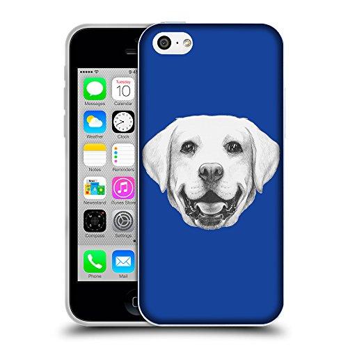 GoGoMobile Coque de Protection TPU Silicone Case pour // Q05370613 Portrait labrador Bleu // Apple iPhone 5C