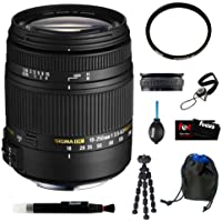 Sigma 18-250mm f3.5-6.3 DC MACRO OS HSM for Canon Digital SLR Cameras Bundle with UV Filter and Lens Accessory Kit Basic Facts Review Image