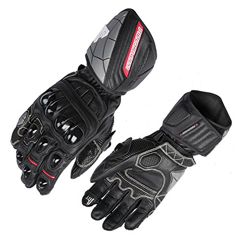 Fieldsheer Unisex-Adult Race-Pro Gloves (Black/Red, Large)