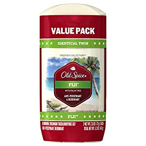 Old Spice Antiperspirant and Deodorant for Men, Fresher Collection, Fiji, Coconut & Tropical Wood Scent, 2.6 Oz