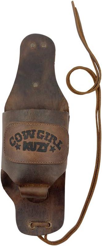 Hide & Drink, Cowgirl Buzy Beer Holster, Handsfree Beverage Holder, Bottle Leg Grip, Old School Women's Badass Girl Western Drinking, Handmade Includes 101 Year Warranty :: Bourbon Brown
