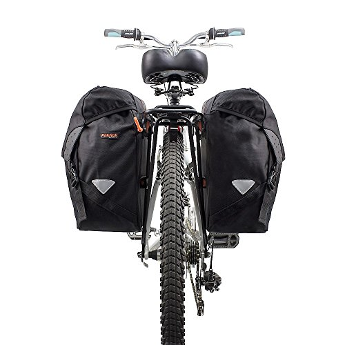 Ibera Bicycle Bag PakRak Clip-On Quick-Release All Weather Bike Panniers (Pair), Includes Rain Cover by Ibera (Image #5)