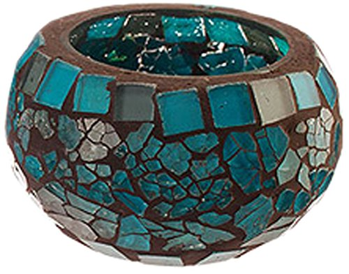 Moon Votive Blue (Amber Home Goods Blue Moon Glass Ball Votive(Each Piece), Small)