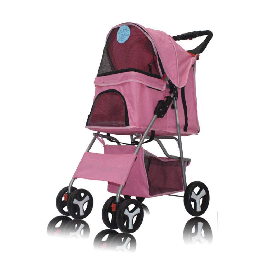 C TYT Pet Stroller, Outdoor Car Stroller Light Portable with Folding Shockproof One-Button Folding Bag Can Be Carried Alone (color   C)