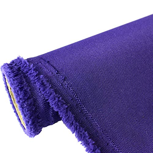 (Waterproof Canvas Fabric Outdoor 600 Denier Indoor/Outdoor Fabric by the yard PU Backing UV Protector Waterproof Canvas Awning Fabric Fabric (1 YARD, Purple))