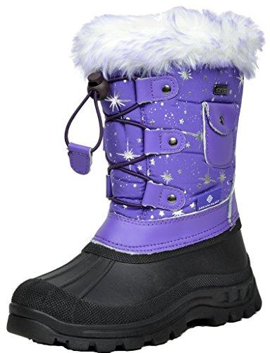 DREAM PAIRS Little Kid Ksnow Purple Isulated Waterproof Snow Boots - 12 M US Little Kid