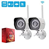 Zmodo 720p HD Outdoor IP Camera Home Wireless Security Camera System (2 Pack)