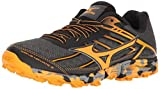 Mizuno Women's Wave Hayate 3 Trail Runner, Dark Shadow/Tangerine Tango, 9.5 B US