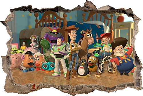 - Toy Story Woody Buzz Lightyear Smashed Wall Decal Wall Sticker Art Mural H989, Giant