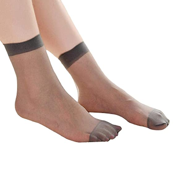SHOBDW Mujer 10 pares Ultra Thin Elástico Seda Chica Medias cortas Sólido Suave Cómodo Bajo Tobillo Corte Calcetines Nylon Tobillo Calcetines Casual Ladies ...