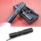 1PCS Coolcase Mini 1 LED Flashlight Keychain Carabiner Torch -Black