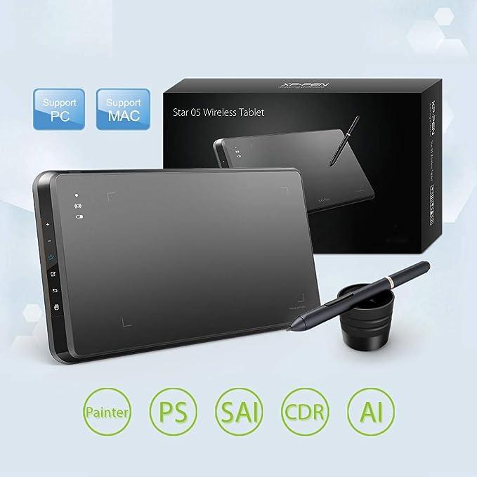 GAYBJ Tableta de Dibujo de gráficos Stylus sin batería inalámbrica/Tablero de Dibujo con Teclas Touch Express: Amazon.es: Deportes y aire libre