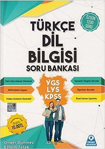 örnek Akademi Ygs Lys Kpss Türkçe Dil Bilgisi Soru Bankası önder