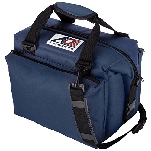 AO Coolers Traveler Original Soft Cooler with High-Density Insulation, Navy, 12-Can