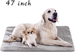 """JoicyCo Dog Bed Crate Pad Mat 35""""/42""""/47"""" Washable Pet Bed Cat Beds Soft Dog Mattress- Anti-Slip Kennel Pad Luxury Color"""