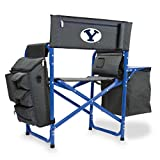 NCAA Brigham Young University Digital Print Fusion Chair, Dark Grey/Blue, One Size