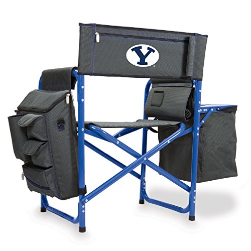 NCAA Brigham Young University Digital Print Fusion Chair, Dark Grey/Blue, One Size by PICNIC TIME