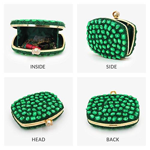 Wedding Clutches Diamond Crystal Evening Green Women For Purse Clutch Bag Handbags w1qCAx6UA