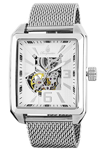 Burgmeister Men's Automatic Metal and Stainless Steel Casual Watch, Color Silver-Toned (Model: BM325-111)