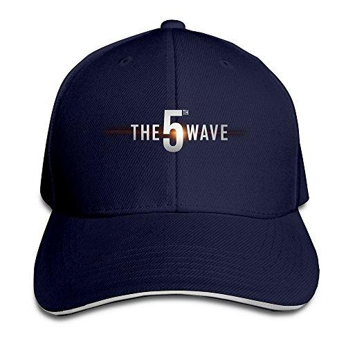 the-5th-wave-logo-unisex-100-cotton-adjustable-baseball-hat-navy-one-size