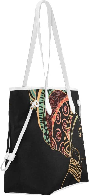 Work Handbag African Woman Tribal Ethnic Woman Tote Bags Casual Tote Bag Large Capacity Water Resistant with Durable Handle