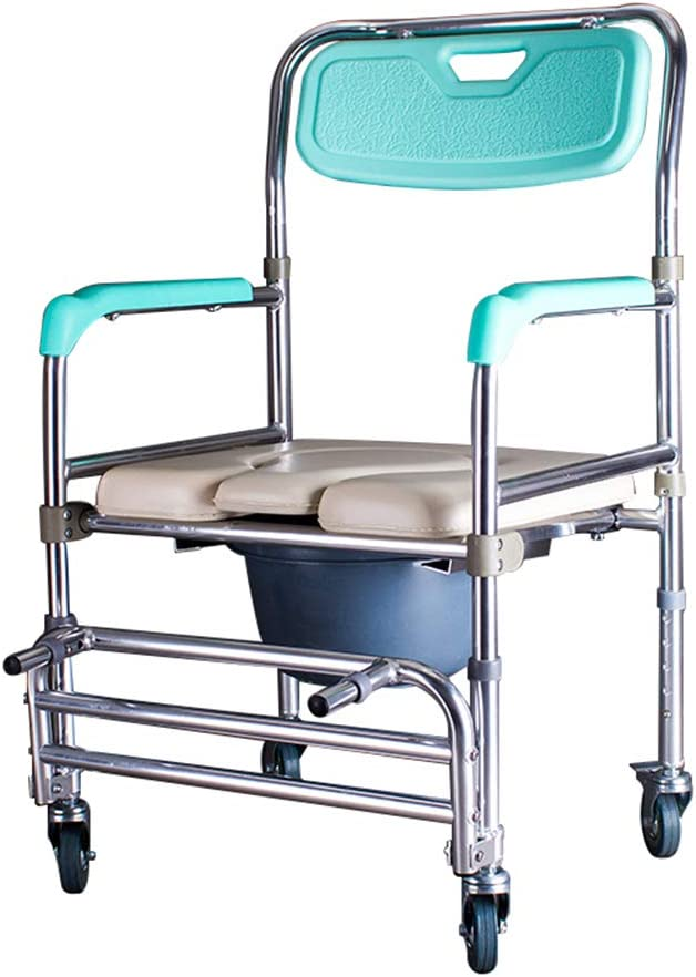 Bedside Commodes Bedroom Toilet Chair, Toilet Seats & Commodes Toilet Shower Toilet, Folding Portable Commode Toilet seat and Frame for The Disabled, Elderly/Pregnant/Disabled Toilet Chair 51IrraK14CLSL1000_
