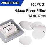 Set of 100 Glass Fiber Filter 1.6μm Pore size 47mm Diameter Lab Filter Binder free