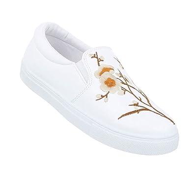 46144f862e Schuhcity24 Damen Sneakers | Sneaker Flach | Sportliche Glitzer  Freizeitschuhe | Halbschuhe Plateau Sohle | Metallic Schuhe Cap Toes:  Amazon.de: Schuhe & ...