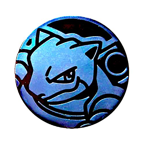 Official POKEMON Coin - Blastoise - Holo FOIL Shiny - Trading Card Game Flipping Coin