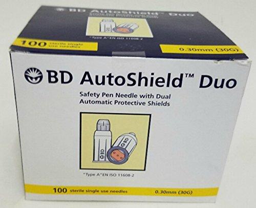 Bd Autoshield Duo 30G 100 Sterile Single Use Needles