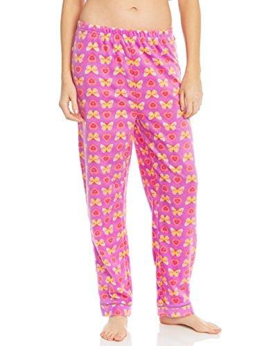 Fleece Womens Sleep Pants Butterfly X-Large