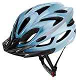 JBM Adult Cycling Bike Helmet Specialized for Mens Womens Safety Protection Red/Blue/Yellow (Gradient Blue, Adult)
