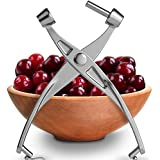 Squeeze2Pit Cherry Pitter: Best Cherry & Olive Pitter Tool - Deluxe Model of Cherry Stoner - Heavy-duty Kitchen Gadget that removes pits from Cherries & Olives quickly