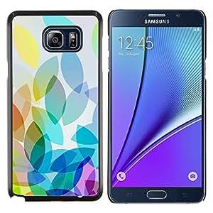 Eason Shop / Premium SLIM PC / Aliminium Casa Carcasa Funda Case Bandera Cover - Manzana colorida luz brillante Blanco - For Samsung Galaxy Note 5
