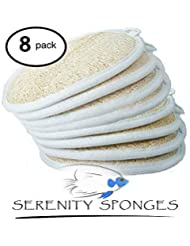 SERENITY SPONGES ALL NATURAL LOOFAH 8 PACK