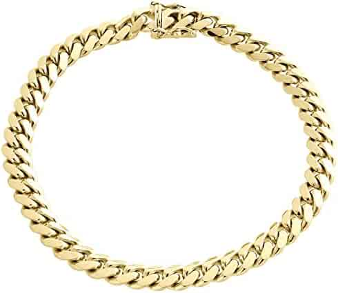 14K Yellow Gold Solid Heavyweight Miami Cuban Link Chain Necklace with Box Lock Clasp 6MM Thick