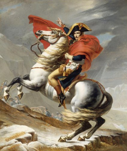 Classic Art Poster - Napoleon Crossing the Alps by Jacques-Louis David