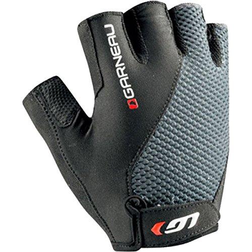 [Louis Garneau Air Gel Plus Gloves - Short Finger - Men's Iron Gray, XL] (Air Gel)