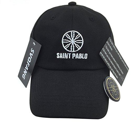 6cc9c00c692 Kanye West Saint Pablo Tour Hat Merch Dad Cap Black Green (Black Hat  White  Stitch)