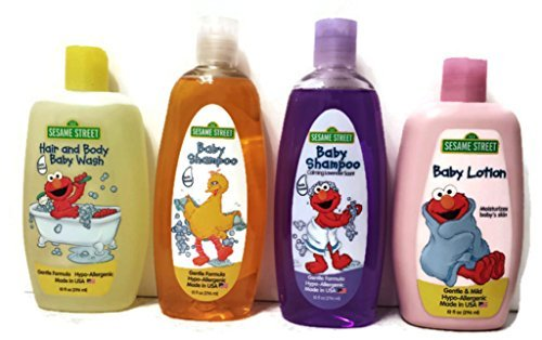 Sesame Street 4 Piece Bundle: Baby Shampoo, Baby Shampoo (Calming Lavender Scent), Baby Lotion, Hair and Body Baby Wash by Sesame Street