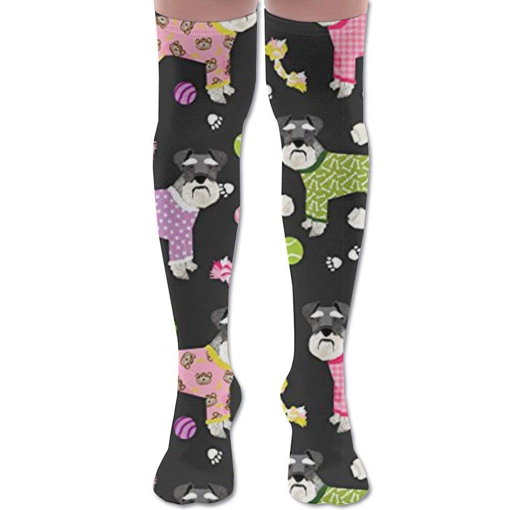 RGFJJE Calcetines Altos Schnauzers in Jammies Athletic Tube Stockings Womens Mens Classics Knee High Socks Sport Long Sock One Size: Amazon.es: Deportes y ...